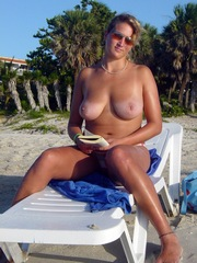 Girlfriend with big natural breasts..