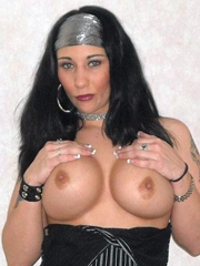 Sexy milf shows her big breasts and..