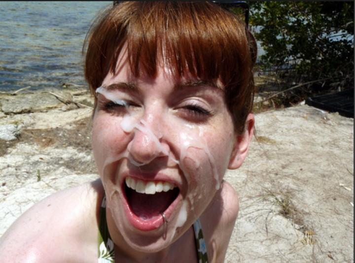 Cum Walk's and other Public Facial cum blasts. Picture #11