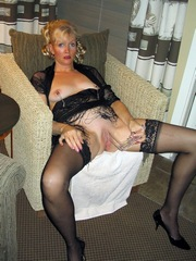 Mature woman caught using speculum to..